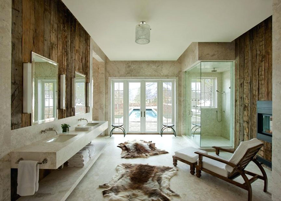 Idee per arredare un bagno rustico moderno 5