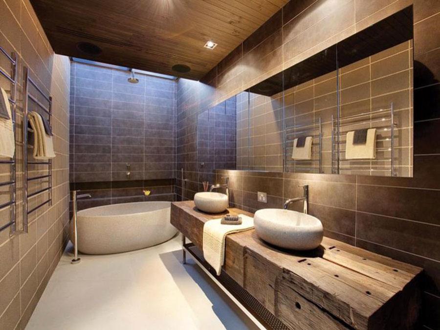 Idee per arredare un bagno rustico moderno 7
