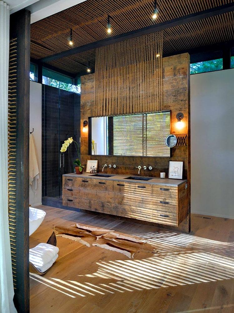 Idee per arredare un bagno rustico moderno 9