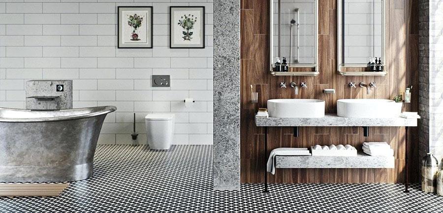 Quali rivestimenti scegliere per un bagno rustico 5