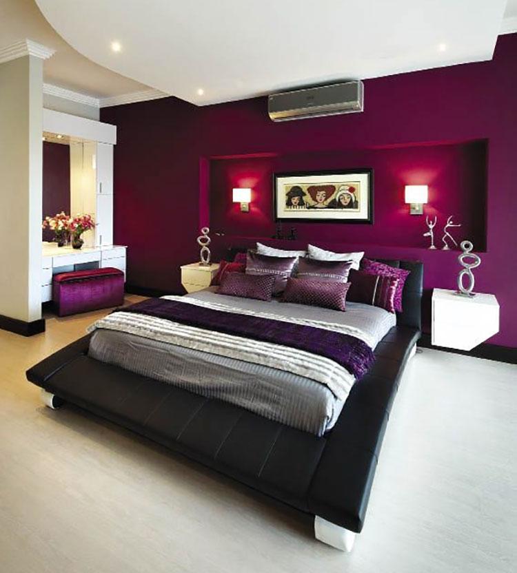 Come utilizzare il color magenta in camera da letto
