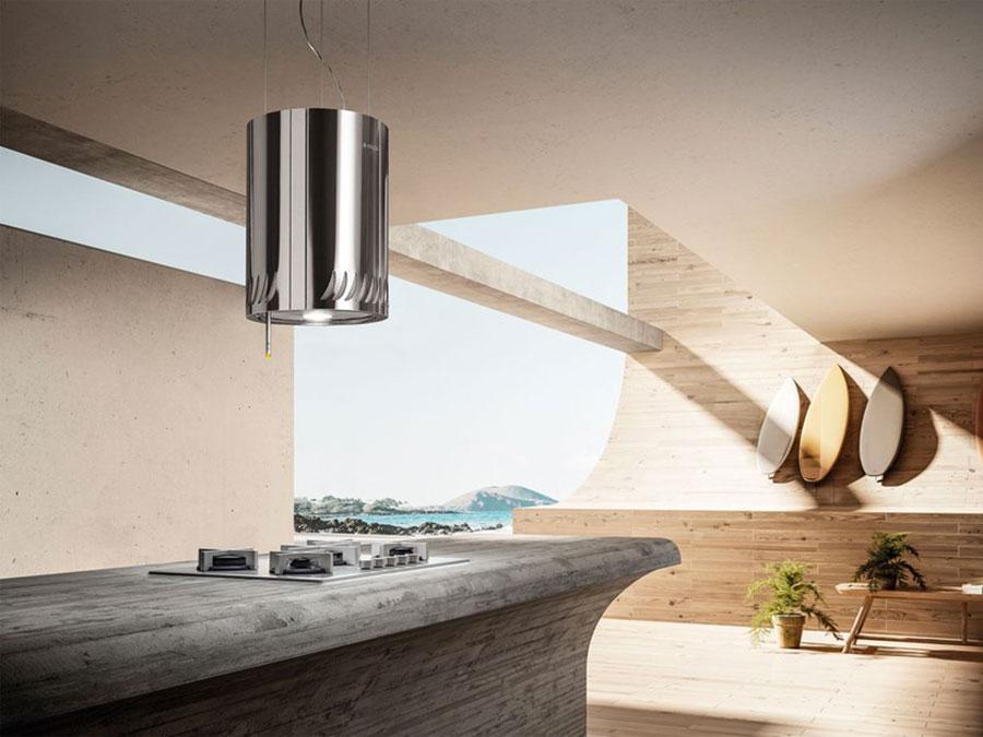 Modello di cappa per cucina con isola Elica Naked