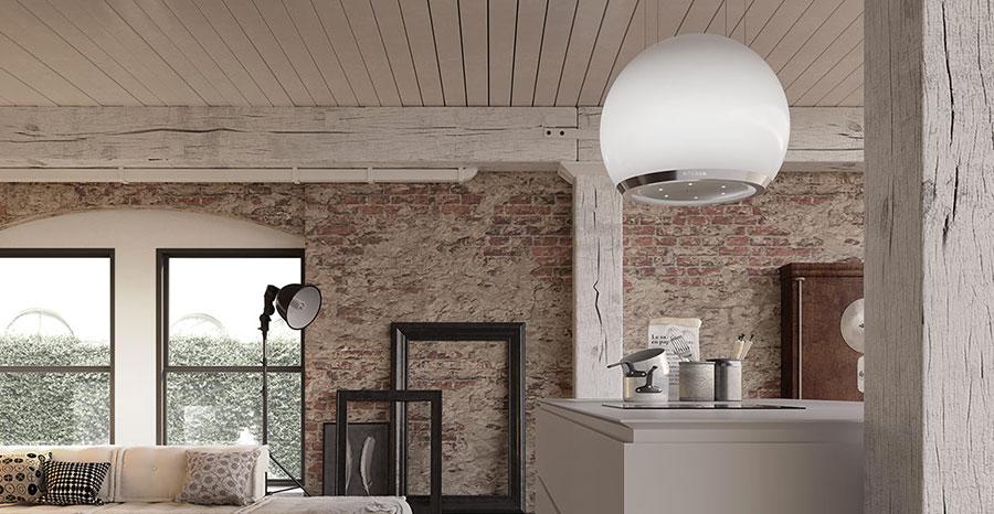 Modello di cappa per cucina con isola Faber Arkea