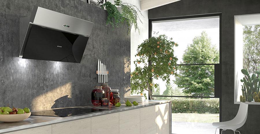 Modello di cappa per cucina a parete Faber Onyx-V