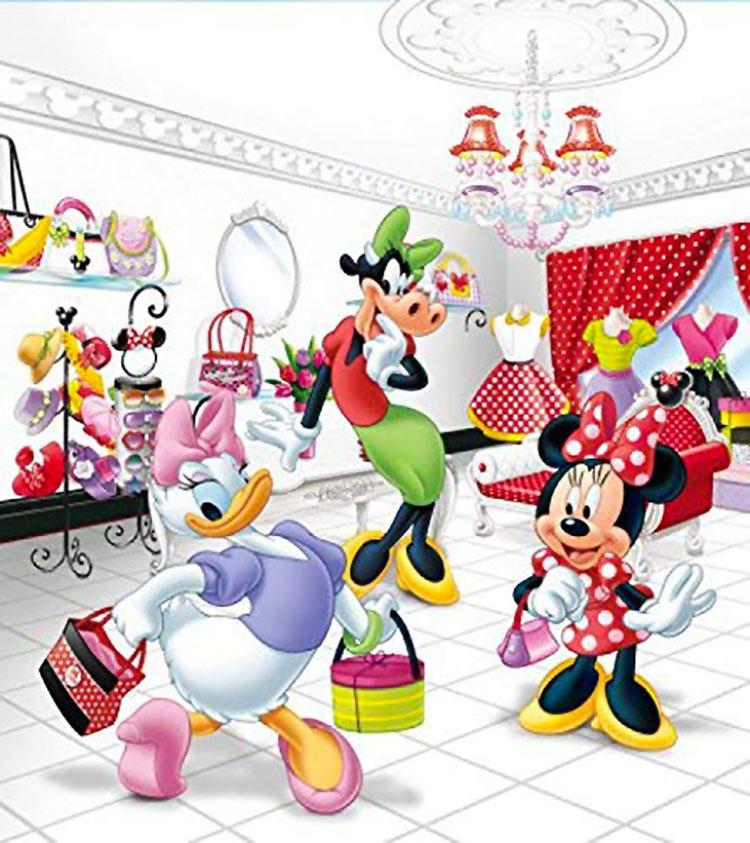 Carta da parati Disney Topolino