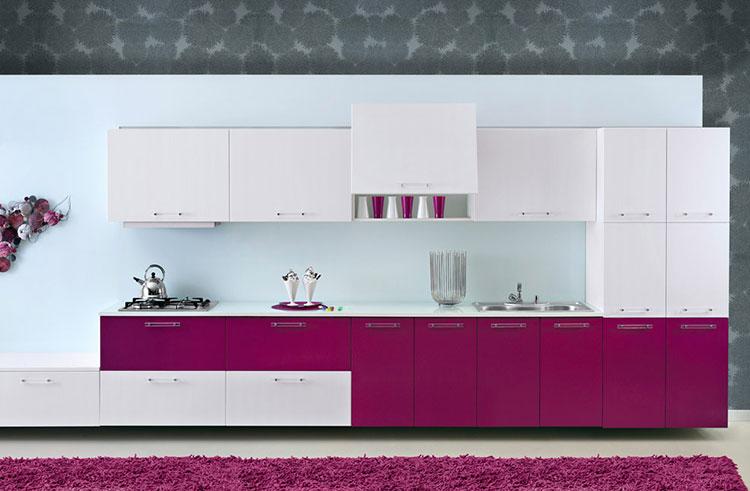 Come utilizzare il color magenta in cucina 1
