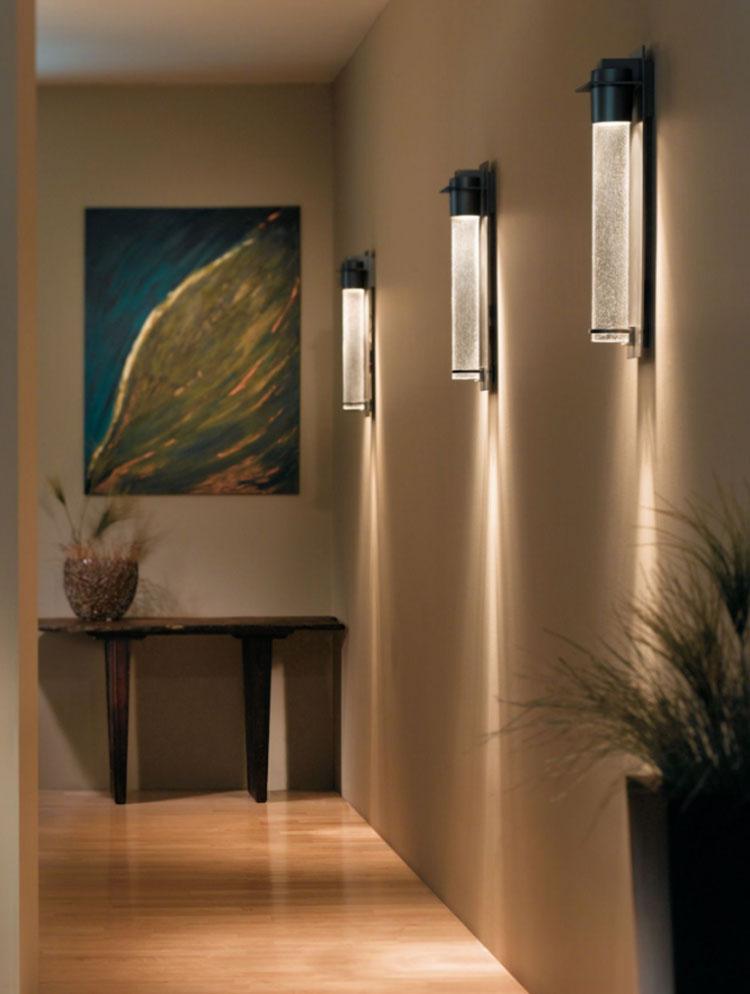 Idee per illuminare il corridoio con gli applique 6