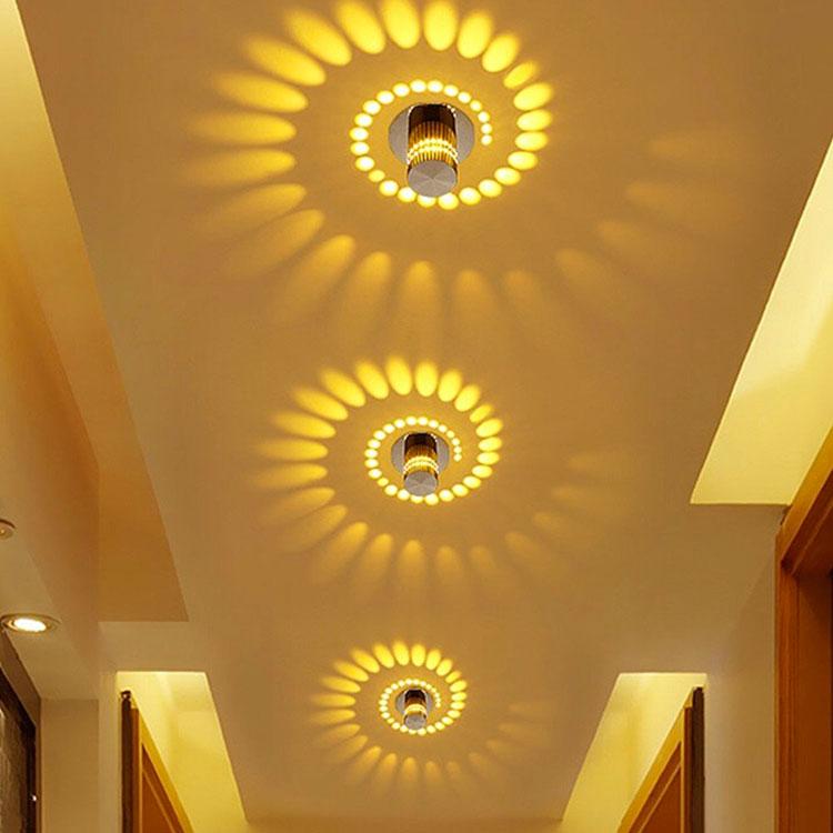 Idee per illuminare il corridoio con gli applique 8