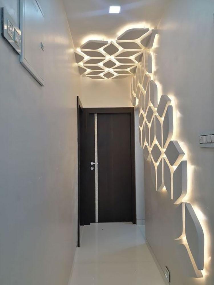 Idee per illuminare il corridoio con gli applique 9
