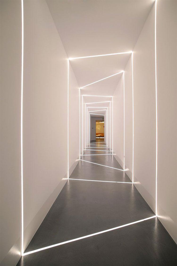 Idee per illuminare il corridoio con i led 1