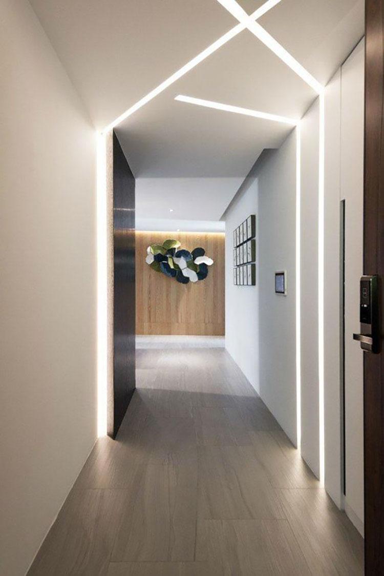 Idee per illuminare il corridoio con i led 2