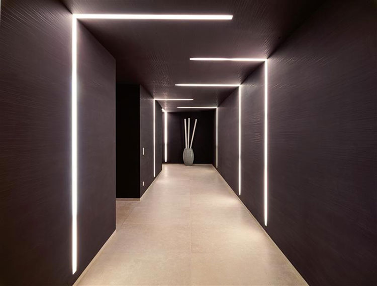 Idee per illuminare il corridoio con i led 3