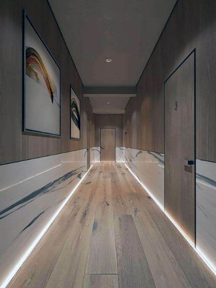 Idee per illuminare il corridoio con i led 6