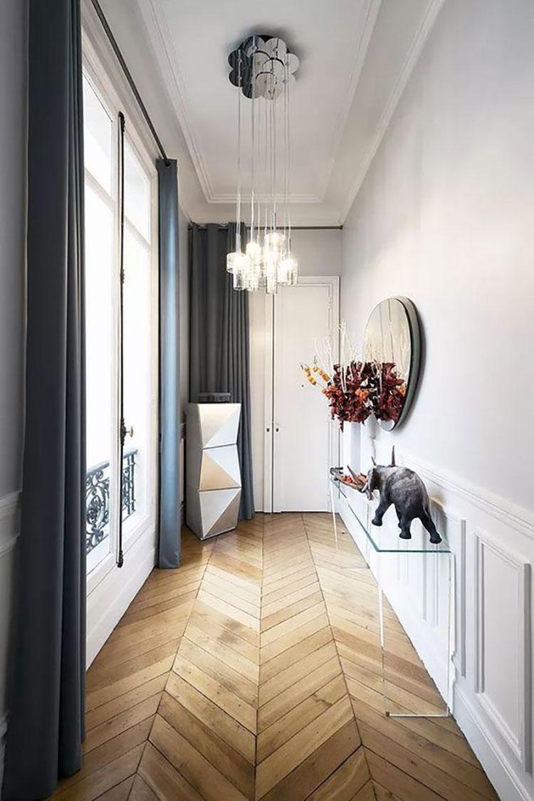 Idee per illuminare il corridoio con i lampade a sospensione 2