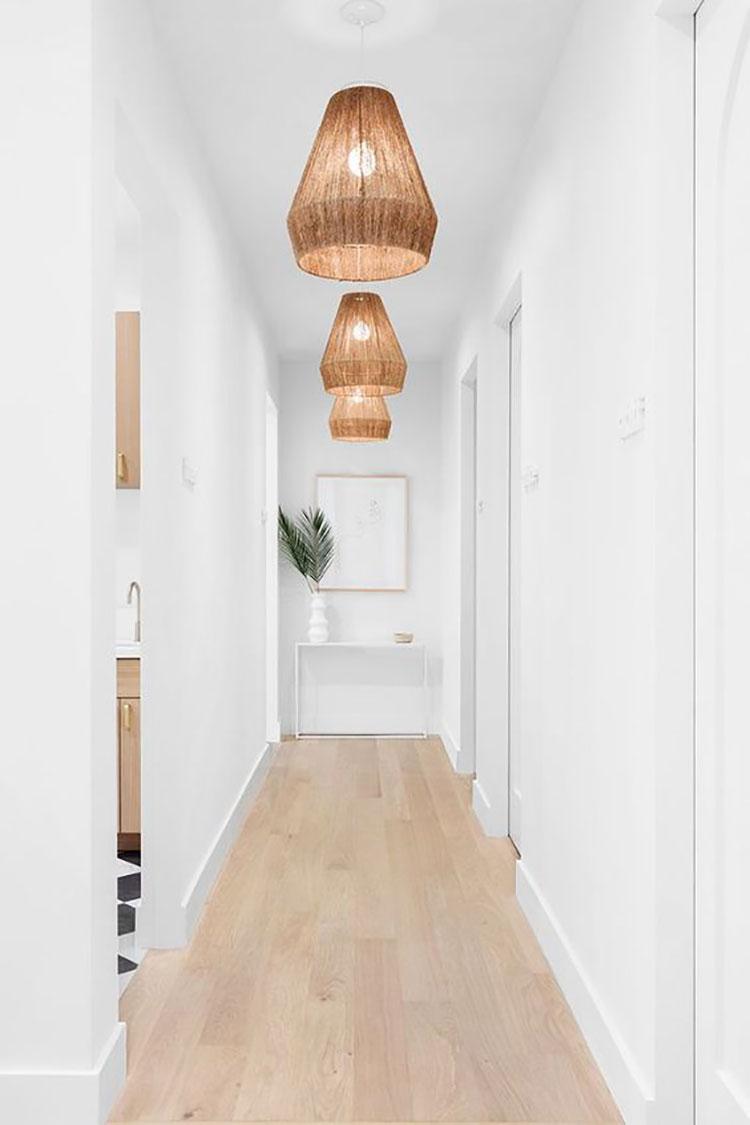 Idee per illuminare il corridoio con i lampade a sospensione 3