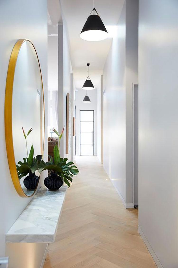Idee per illuminare il corridoio con i lampade a sospensione 4