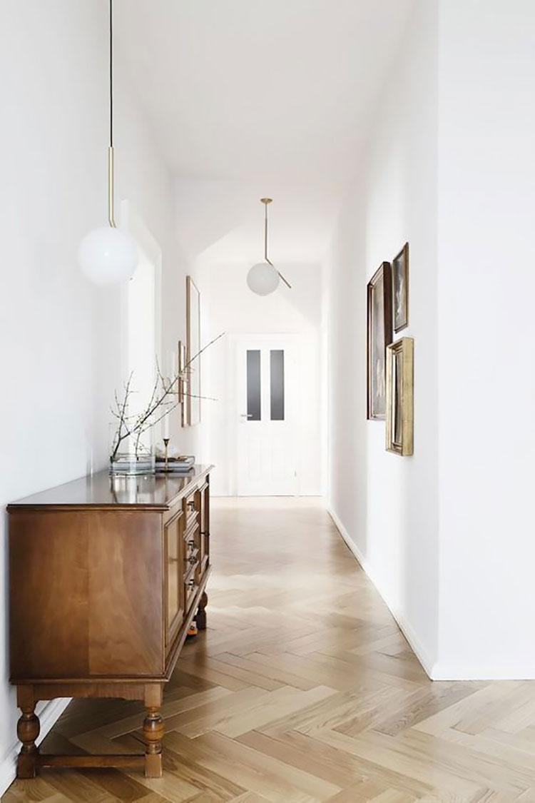 Idee per illuminare il corridoio con i lampade a sospensione 7