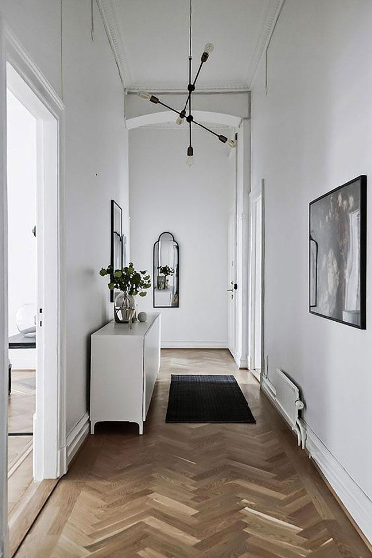 Idee per illuminare il corridoio con i lampade a sospensione 8