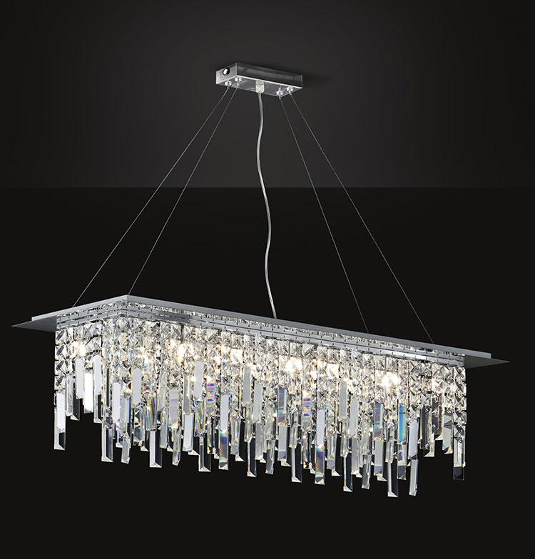 Modello di lampadario vintage in cristallo n.1