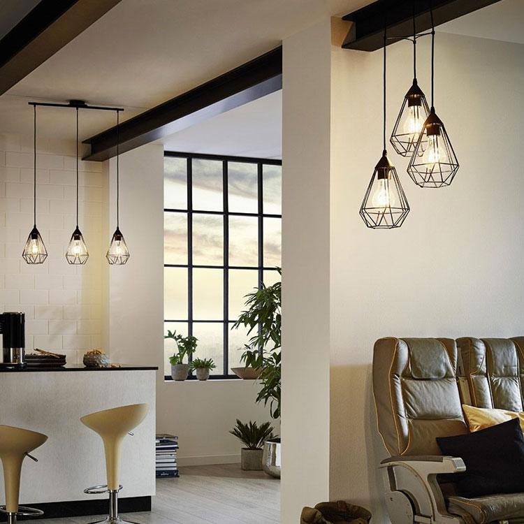 Modello di lampadario vintage industrial n.1