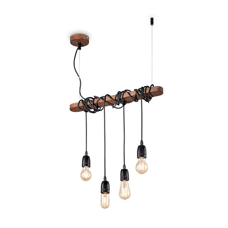 Modello di lampadario vintage industrial n.2