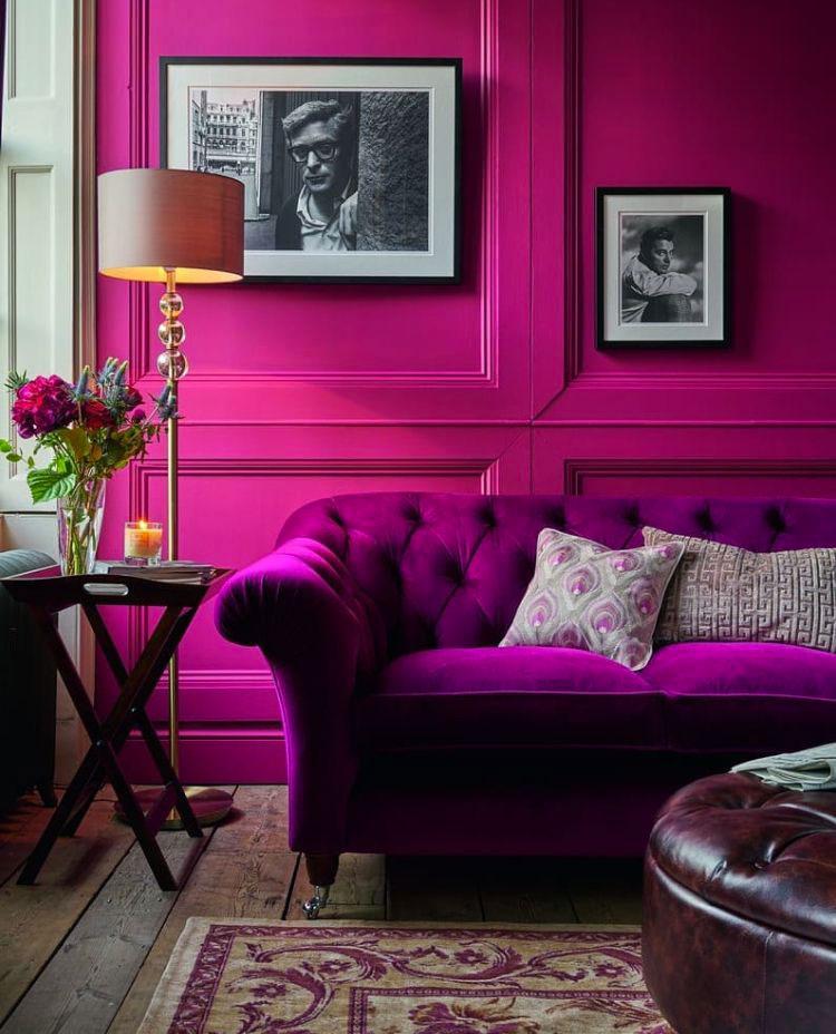 Come utilizzare il color magenta sulle pareti 2