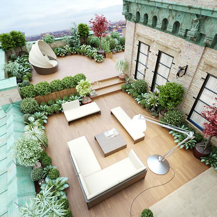 Idee per abbellire un terrazzo con elementi di arredo n.1