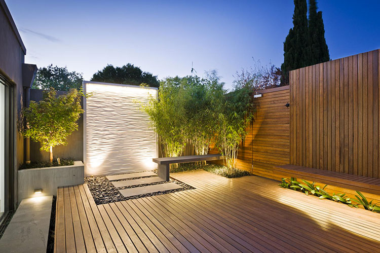 Idee per abbellire un terrazzo con le luci n.2