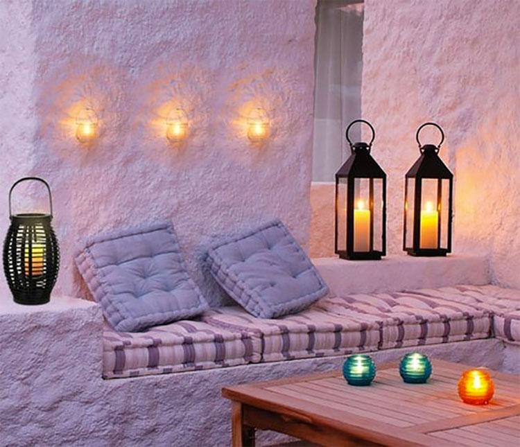 Idee per abbellire un terrazzo con le luci n.5