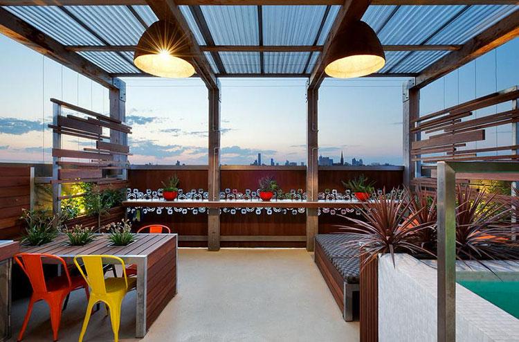Idee per abbellire un terrazzo con pergole n.2