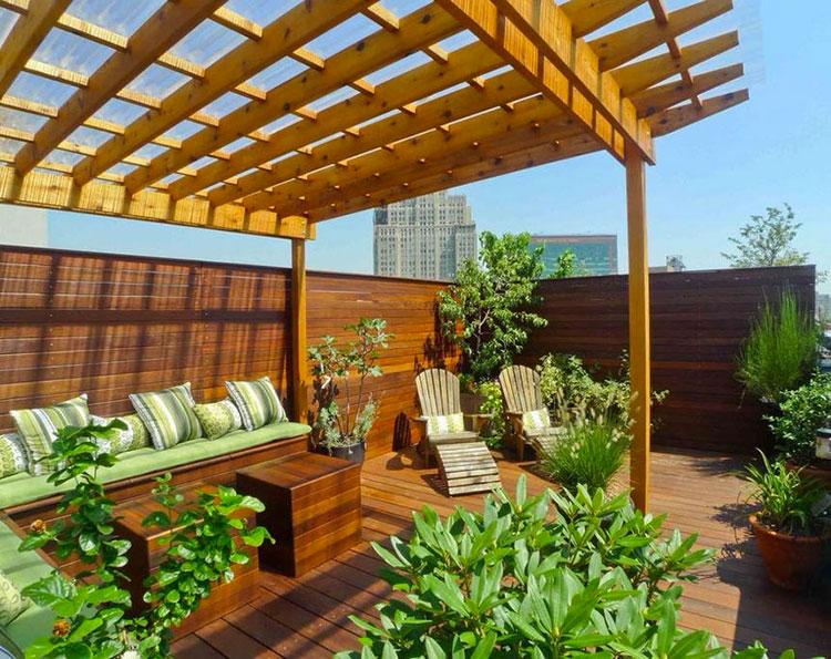 Idee per abbellire un terrazzo con pergole n.4
