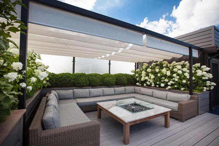 Idee per abbellire un terrazzo con pergole n.5