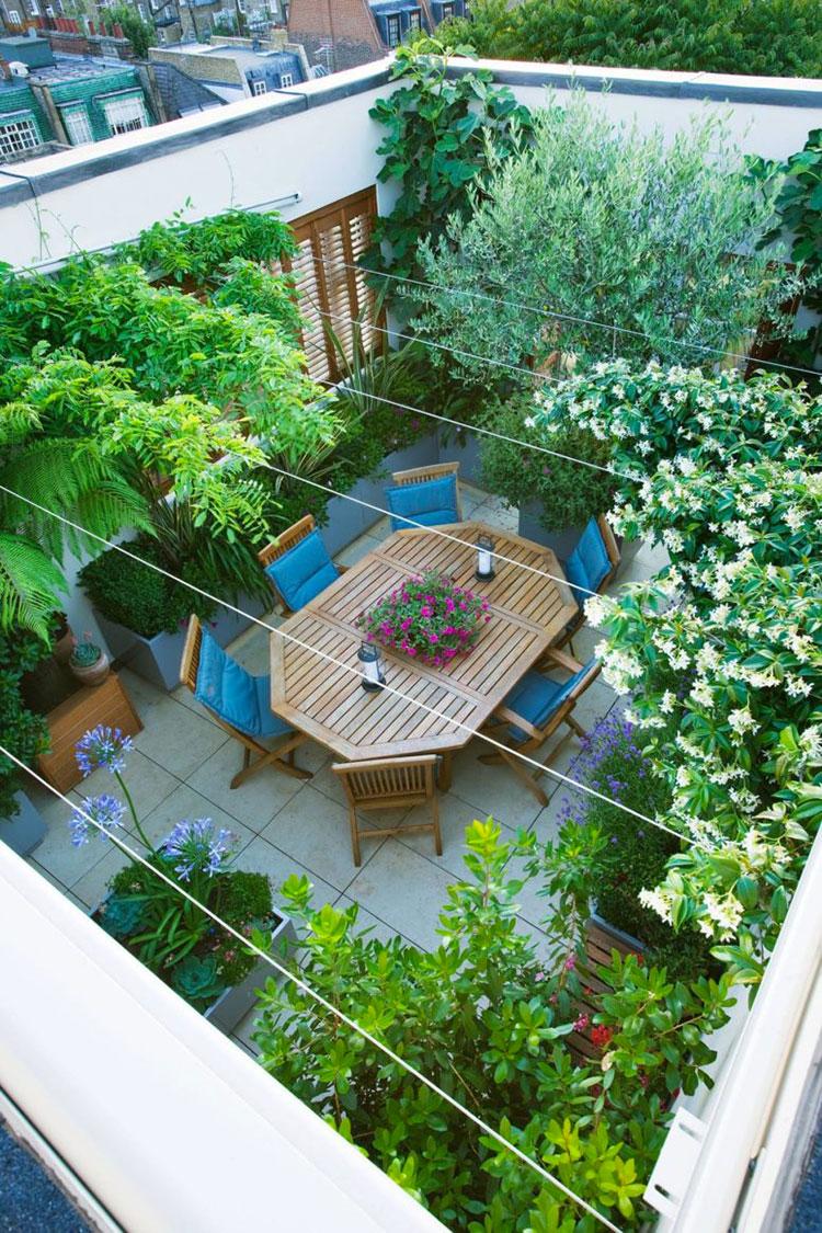Idee per abbellire un terrazzo con piante e fiori n.1