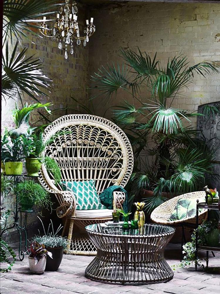 Idee per abbellire un terrazzo con piante e fiori n.2