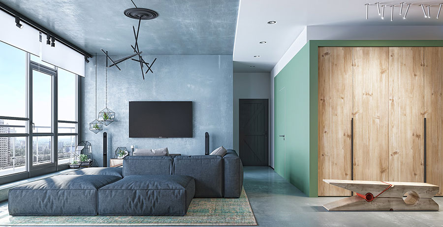 Idee per abbinare i colori delle pareti n.11