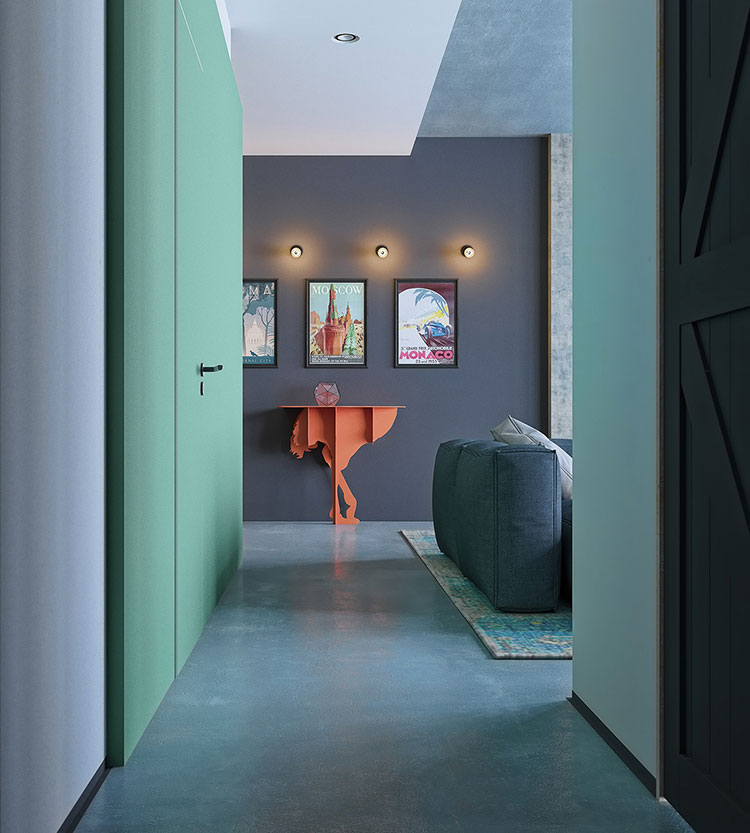 Idee per abbinare i colori delle pareti n.12