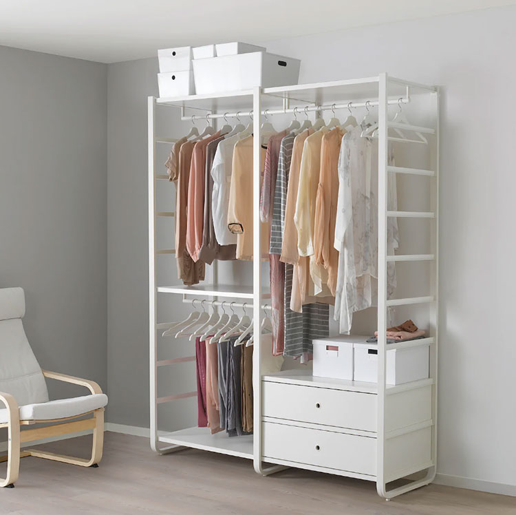 Cabina armadio Ikea con sistema Elvarli n.01