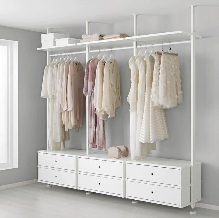 Cabina armadio Ikea con sistema Elvarli n.03