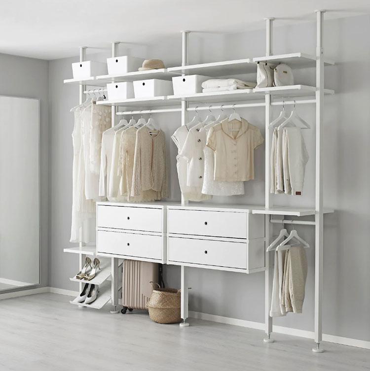 Cabina armadio Ikea con sistema Elvarli n.04