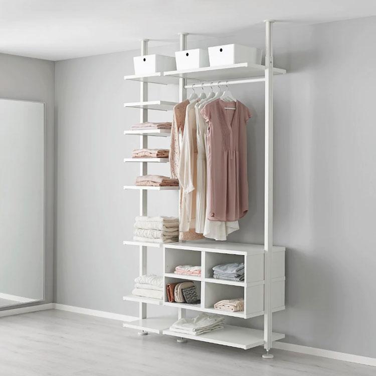 Cabina armadio Ikea con sistema Elvarli n.06