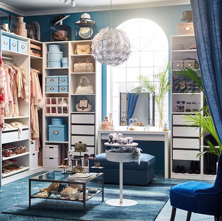 Idee per progettare una cabina armadio Ikea n.01