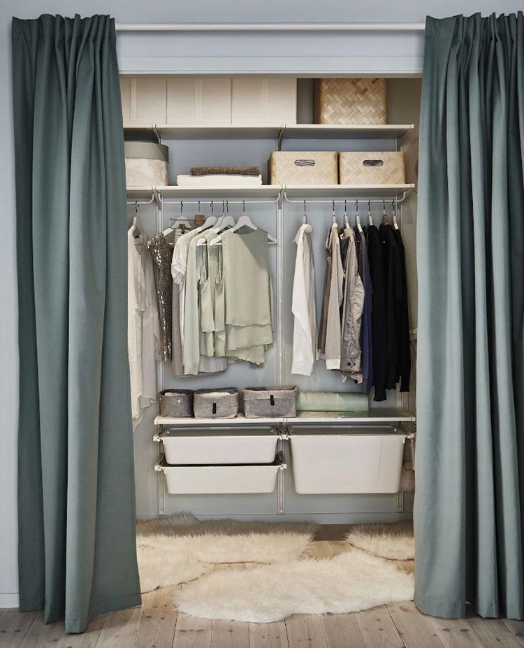 Idee per progettare una cabina armadio Ikea n.13