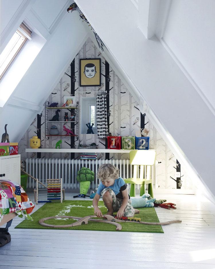 Idee per arredare la cameretta in mansarda con Ikea n.01