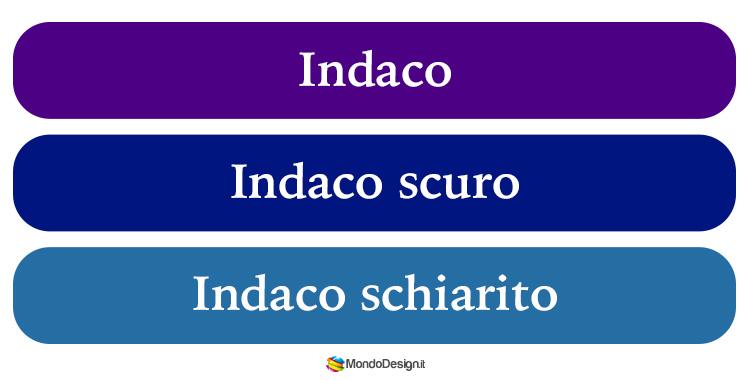 Variazioni cromatiche del colore indaco