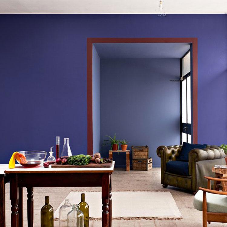 Idee per dipingere le pareti con il calore indaco 2