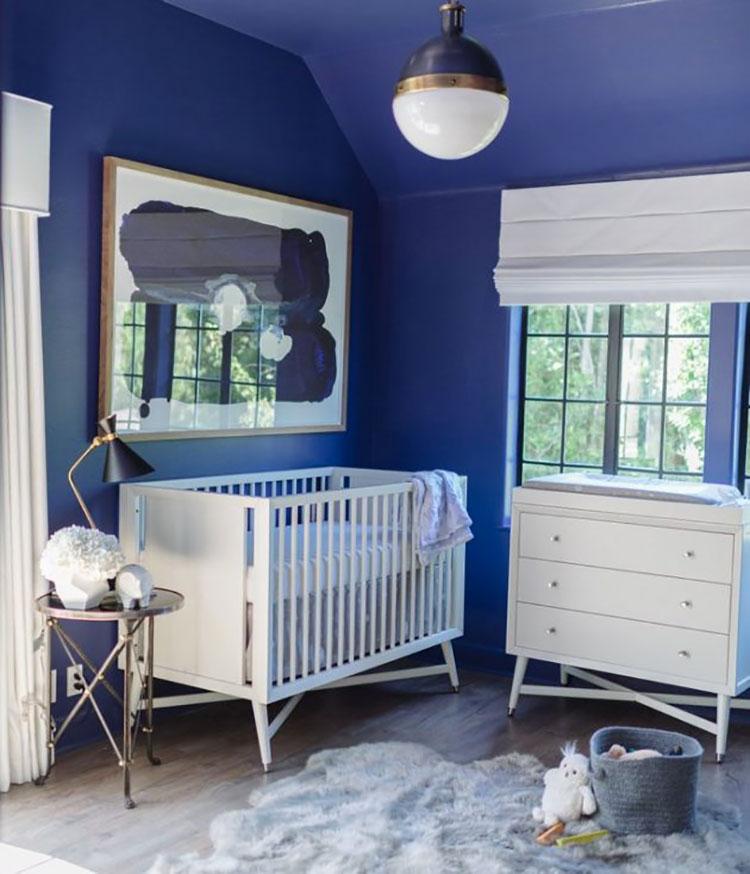 Idee per dipingere le pareti con il calore indaco 3
