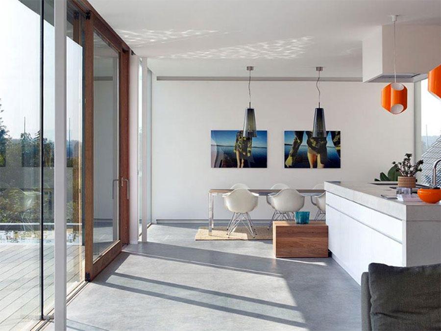 Modello di pavimento per cucina moderna in cemento 04