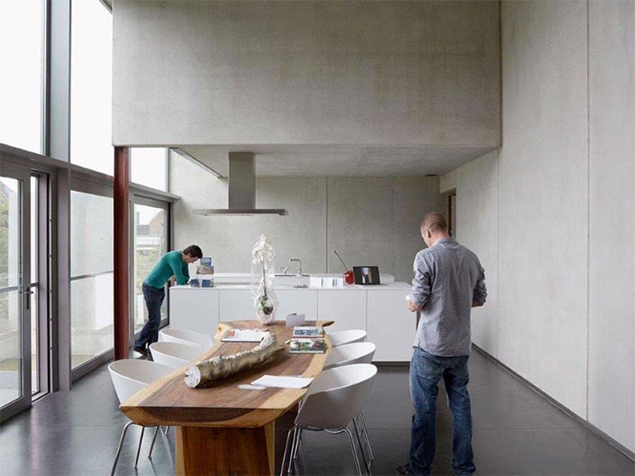 Modello di pavimento per cucina moderna in cemento 05