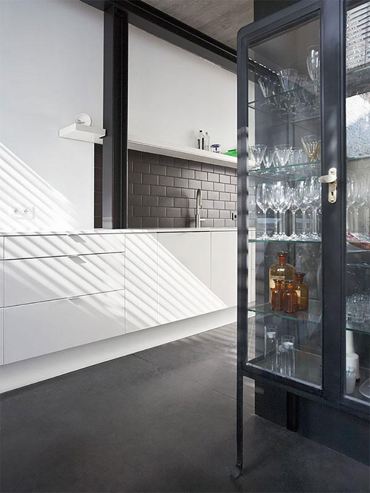 Modello di pavimento per cucina moderna in cemento 06