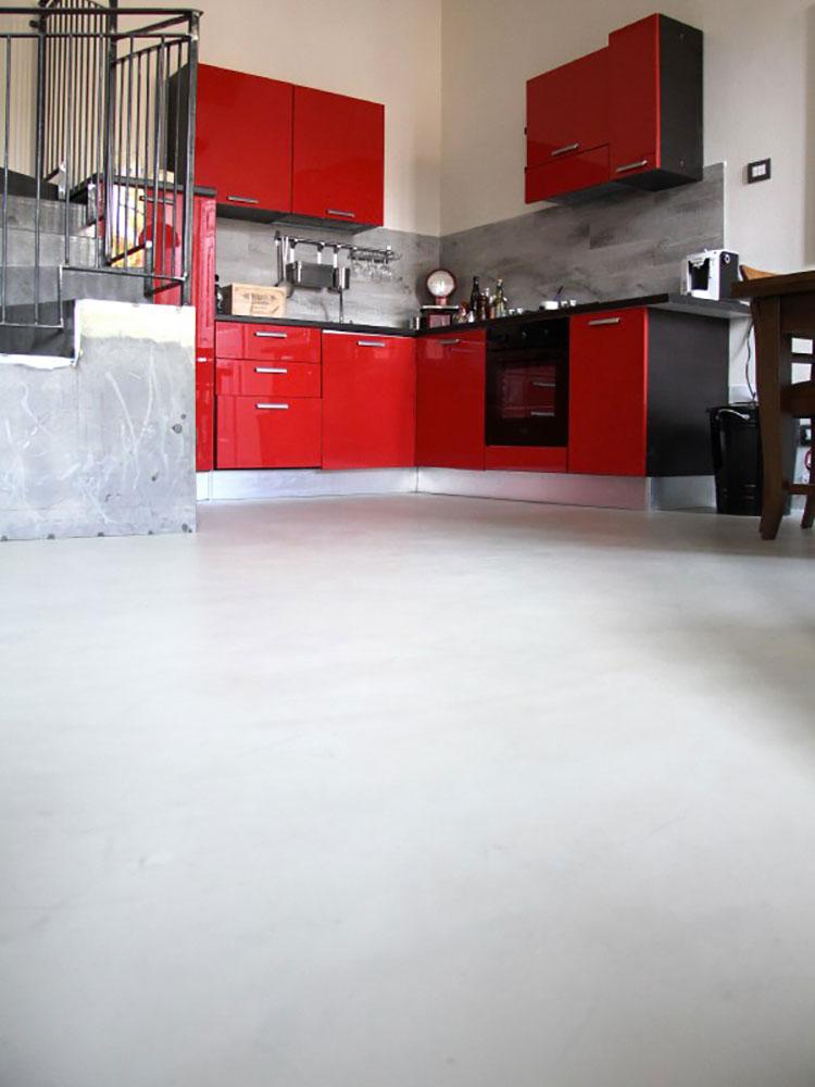 Modello di pavimento per cucina moderna in cemento 08